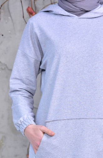 iLMEK Pockets Sports Tunic 5207-04 Gray 5207-04
