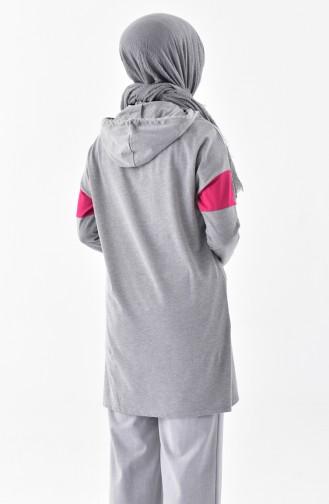 Hooded Sweatshirt 1075-01 Gray 1075-01