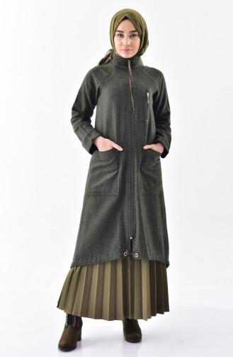 Stand-up collar Fleece Cape 2188-01 Khaki 2188-01