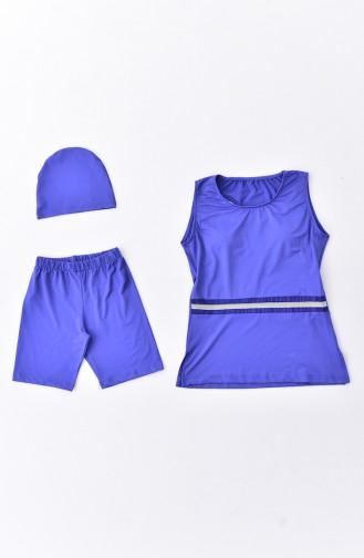 Saxon blue Swimsuit Hijab 273-01