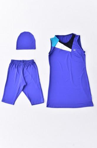 Saxon blue Swimsuit Hijab 282-01