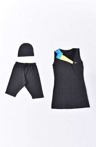 Maillot de Bain Hijab Noir 282-02