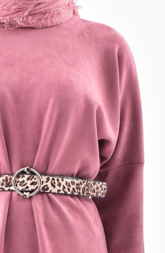 Bat Sleeve Suede Tunic 5865-09 Rose Dry 5865-09