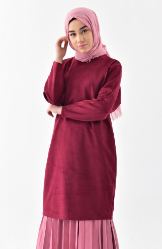 Bat Sleeve Suede Tunic 5865-11 Claret Red 5865-11