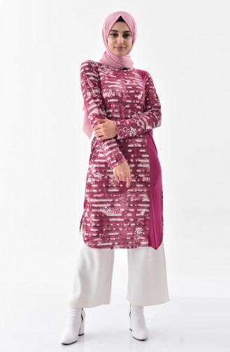 Garnished Tunic 99176-03 Claret Red 99176-03