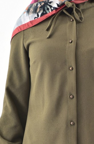 Buttoned Tunic 4402-03 Khaki 4402-03
