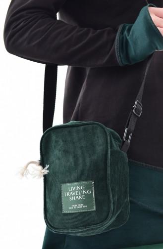 Women Cross Shoulder Bag U0002-03 Green 0002-03