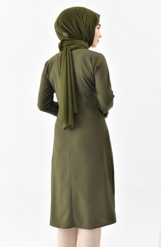 Kravat Yaka Tunik 1084-16 Yeşil 1084-16