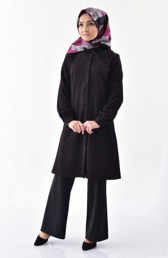 Buttoned Tunic 4402-02 Black 4402-02