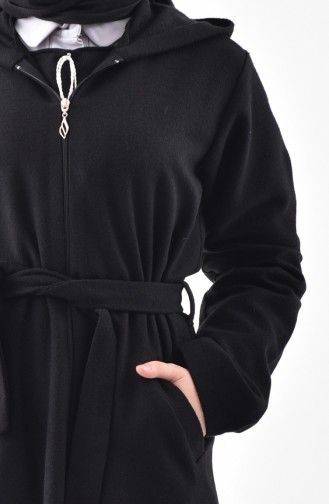 Zippered Fleece Coat 1034-01 Black 1034-01