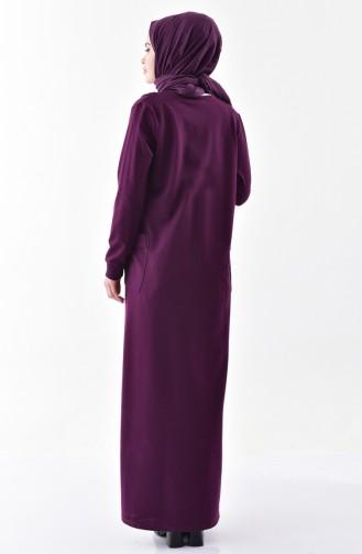 Bedrucktes Kleid aus Stein 2187-02 Lila 2187-02