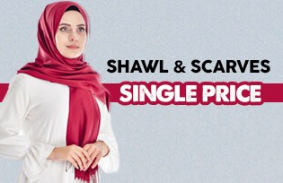 Single Price for Shawl & Scarves