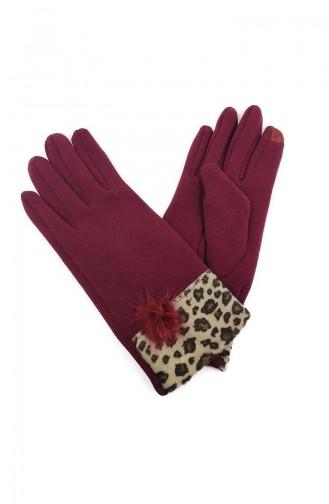 Womens Gloves S01-02 Burgundy 01-02