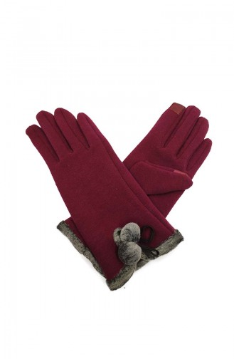 Womens Gloves S02-02 Burgundy 02-02