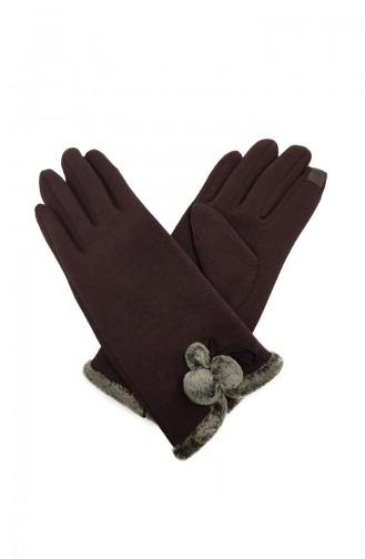 Dame Touch Handschuhe S02-03 Braun 02-03