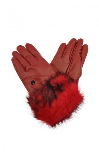 Dame Handschuhe S03-02 Rot 03-02