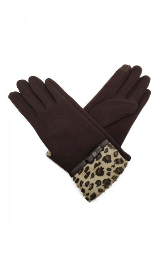 Womens Gloves S06-04 Brown 06-04
