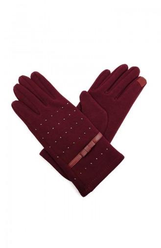 Womens Gloves S14-03 Burgundy 14-03