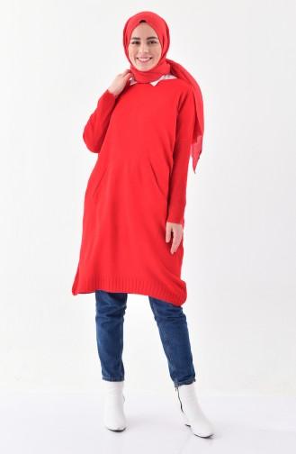 Triko Uzun Kazak 4710-02 Kırmızı 4710-02