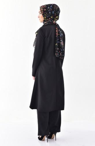 BURUN  Necklace Tunic Trousers Double Suit 0115-05 Black 0115-05