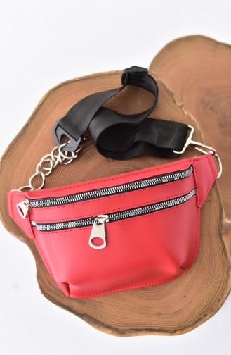 Women s Waist Bag Bs1049 Red Red 10495KI