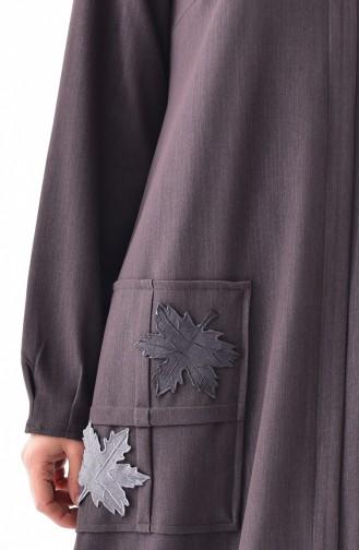 Abaya mit Reissverschluss 49512-02 Braun 49512-02