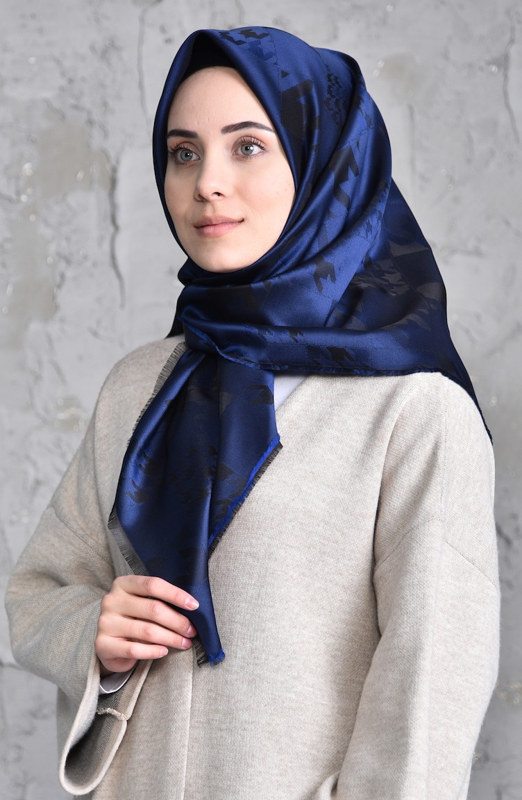 5495ebe24cd Navy Blue Scarf 901398-09