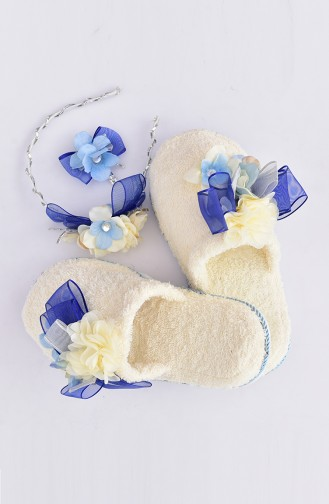 Blue Lohusa Tac and Slippers 1
