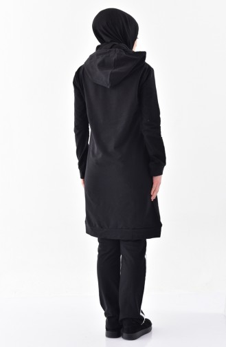 Black Sweatsuit 18026-01