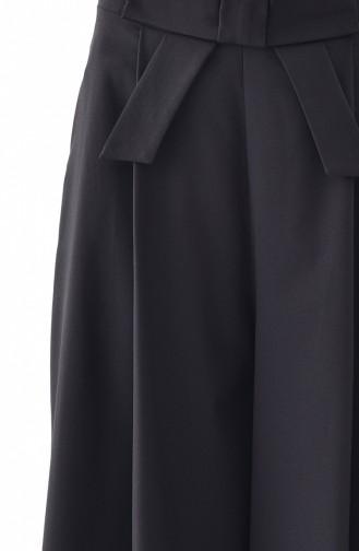 بورون بنطال بتصميم قصة تنورة 0156-01 لون أسود 0156-01
