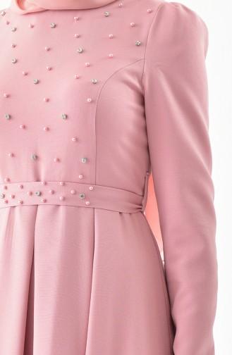 Stone Belted Dress 0207-06 Powder 0207-06