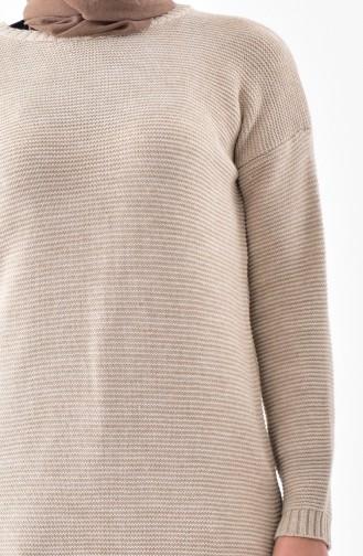 Knitwear Long Tunic 8101-01 Beige 8101-01