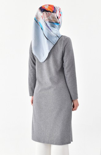 Front Crossed Tasseled Cape 4040-04 Gray 4040-04