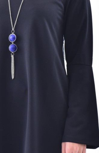 Dilber  Necklace Blouse 4085-04 Navy 4085-04