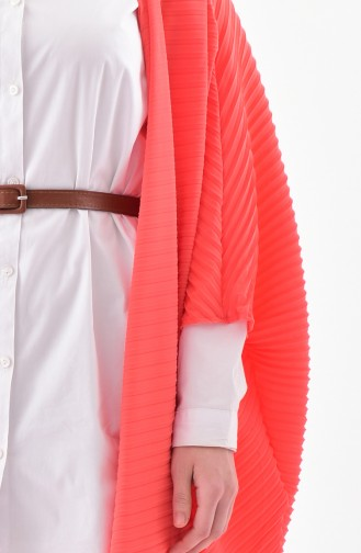 Bat Sleeve Flywheel Cardigan 8531-02 Coral 8531-02