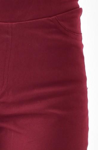 ميناهيل بنطال بتصميم مطاط عند الخصر 8301-02 لون خمري 8301-02