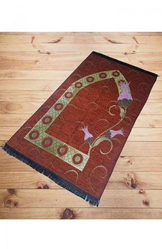 Tulip patterned Prayer Rug 2011-03 Claret Red 2011-03