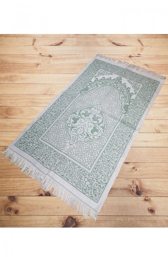 Silk Taffeta Prayer Rug 2015-02 Green 2015-02