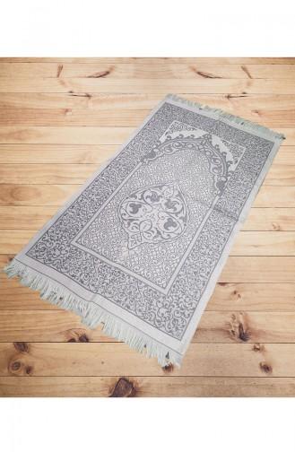 Silk Taffeta Prayer Rug 2015-03 Gray 2015-03