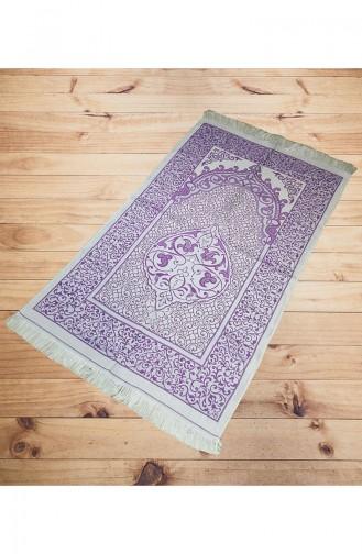 Silk Taffeta Prayer Rug 2015-04 Purple 2015-04