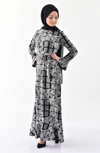 Silvery Flounce Dress  7149-01 Silver  7149-01