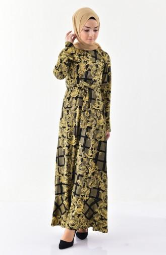 Silvery Flounce  Dress 7149-03 Gold 7149-03