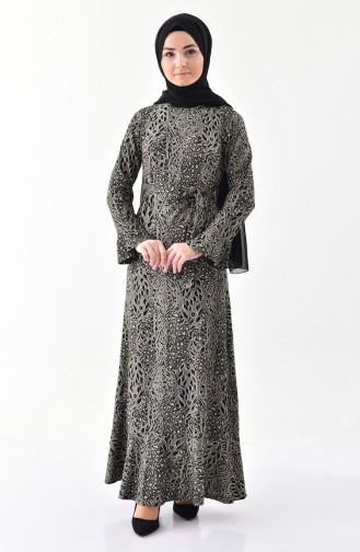 Dilber Silvery Ruffles Dress 7151 A-01 Black 7151A-01