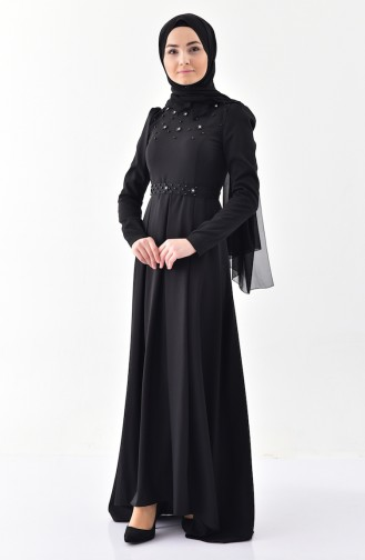 Pearly Belted Dress 0206-01 Black 0206-01