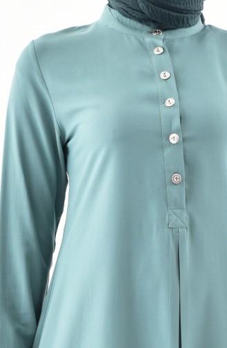 Sefamerve Buttoned Tunic 5009-06 Almond Green 5009-06