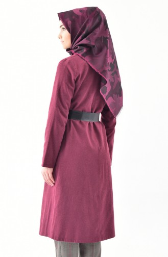 Belted Cashmere Cape 4405-03  Claret Red 4405-03