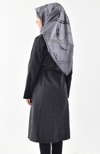 Belted Cashmere Cape 4405-01 Anthracite 4405-01