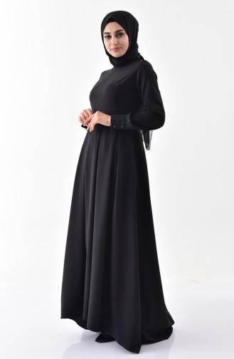 BURUN  Pleated Dress 81646-01 Black 81646-01