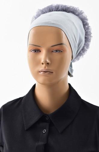 Lace Frilled Bonnet -10 Dark Gray 10