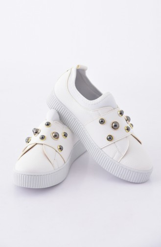 White Sport Shoes 2020K-03